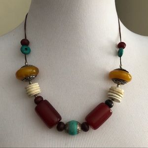Chunky Bead Necklace on a String
